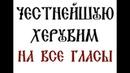 ЧЕСТНЕЙШУЮ ХЕРУВИМ–НА ВСЕ ГЛАСЫ–УТРЕНЯ