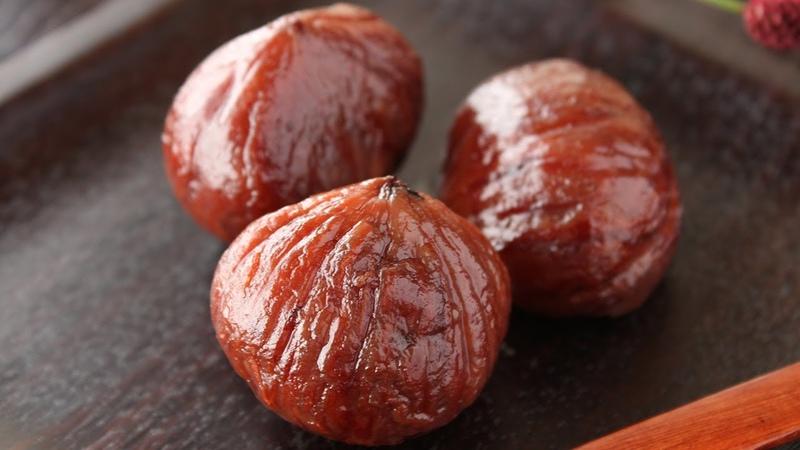栗の渋皮煮の作り方 レシピ How to make Kuri no Shibukawani Japanese style Chestnut Compote