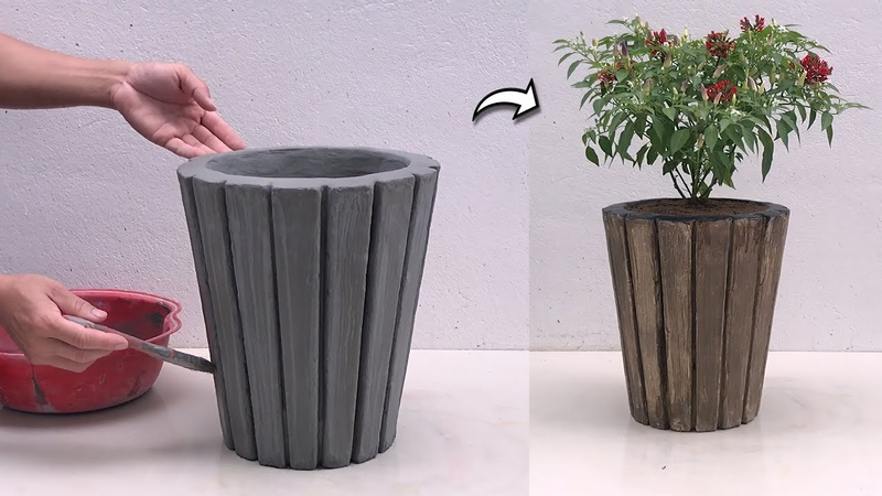 Amazing Creativity From Cement - DIY Cement Flower Pots At Home - Cement Craft Ideas