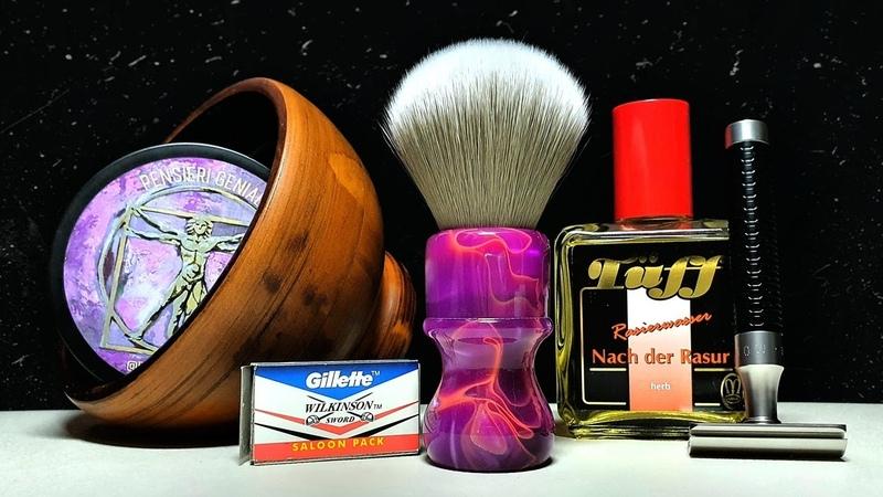 Бритьё Новый формат Т станок Mühle ROCCA мыло Fenomeno Yaqi 24mm чаша ММ Tüff Herb Gillette