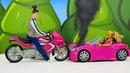 Играем в куклы - Барби за рулем. Видео для девочек с Барби