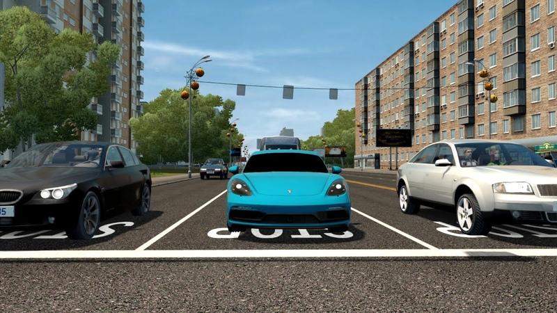 City Car Driving Porsche 718 Cayman GTS l Normal Driving CCD Gameplay G29