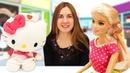 Видео про игрушки для девочек. КуклаБарби и Академия Волшебства с Хелло Китти. Игры в куклы