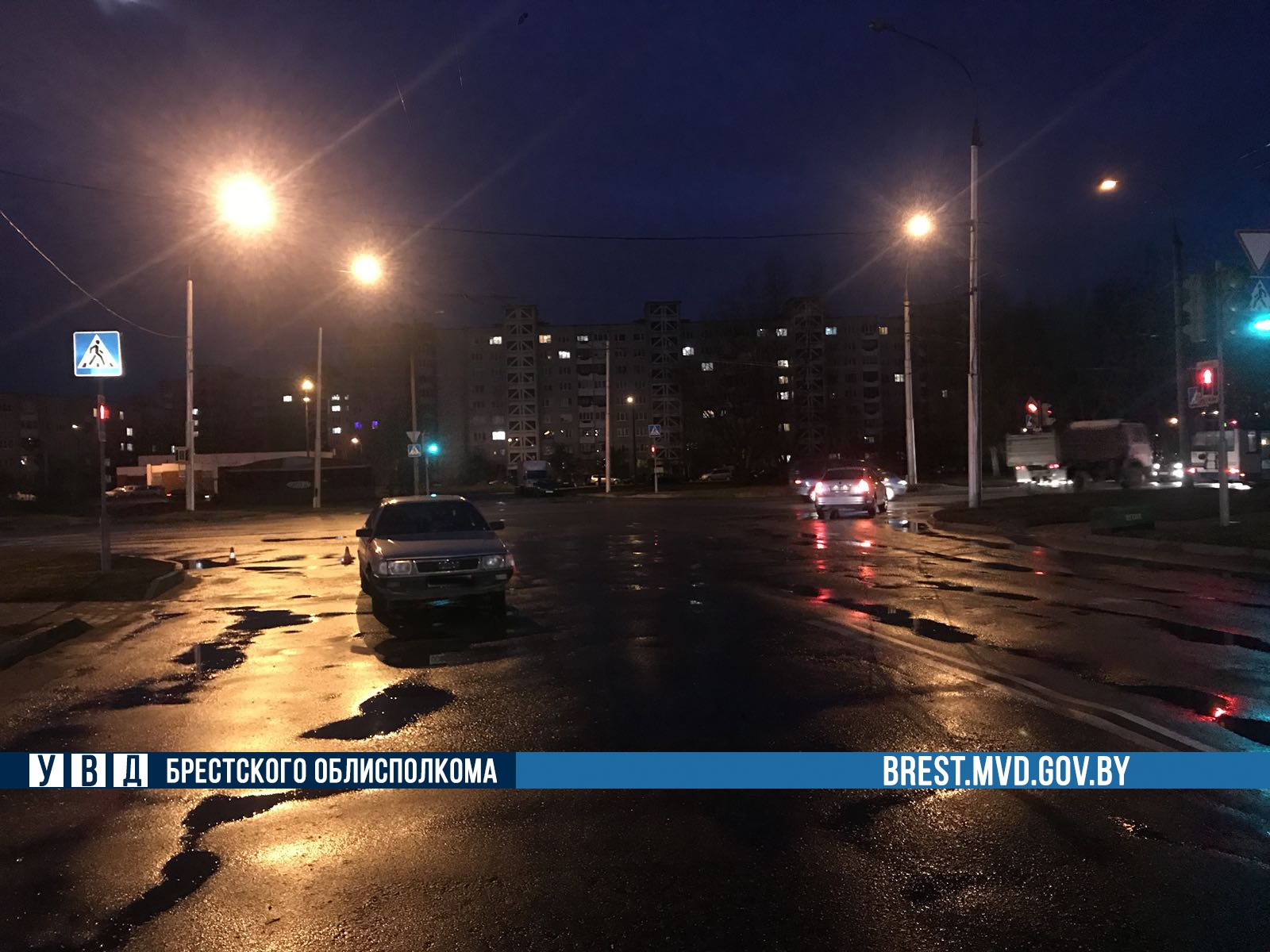 Сегодня утром дедушка на автомобиле Ауди-100 на ул. Гродненской сбил бабушку
