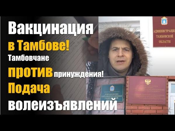 Вакцинация в Тамбове Тамбовчане против принуждения к вакцинации Подача волеизъявлений все органы