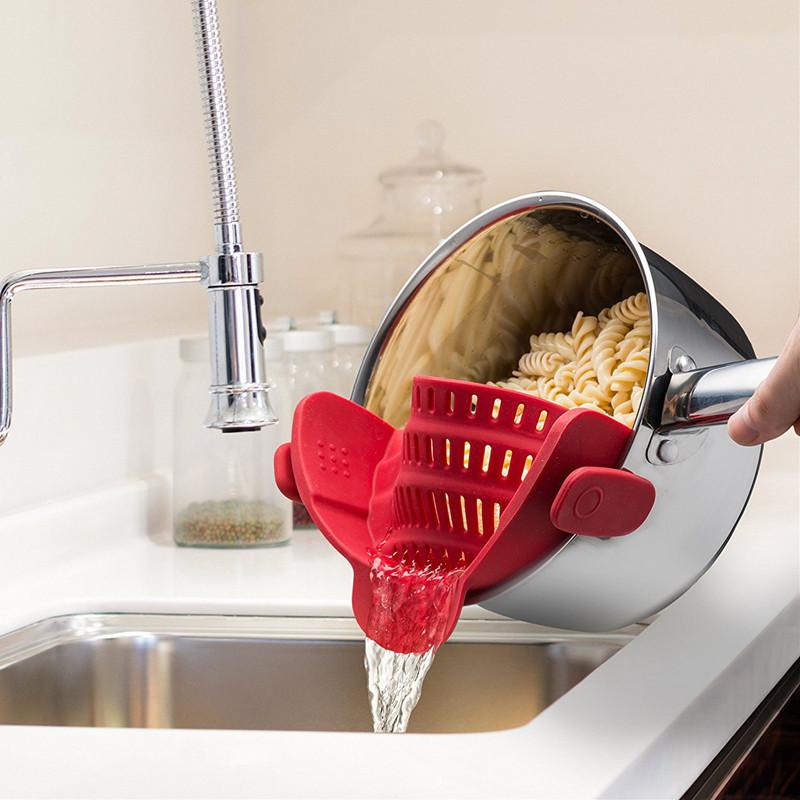 Насадка на кастрюлю для слива воды -