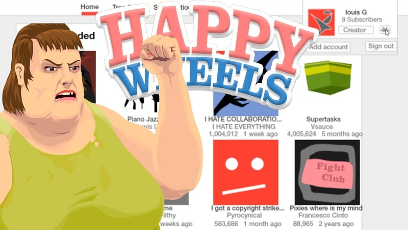 ЮТУБ В ХЕППИ ВИЛС ► Happy Wheels 3