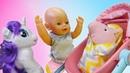 Весёлые игры Дочки Матери с БЕБИ БОН, Литл Пони и Свинкой Пеппой! Baby Born Видео куклы для девочек