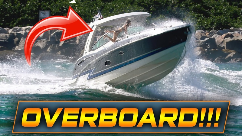WARNING GIRL GOES OVERBOARD AT HAULOVER INLET!! | Boats vs Haulover Inlet