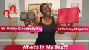 WHATS IN MY BAG WHATS IN MY LOUIS VUITTON UTILITY CROSSBODY LOUIS VUITTON SCARLET TOILETRY 26