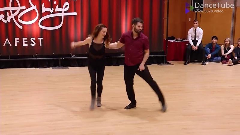 Improv West Coast Swing Dance Ben Morris Alyssa Glanville Budafest 2018 Pro Show