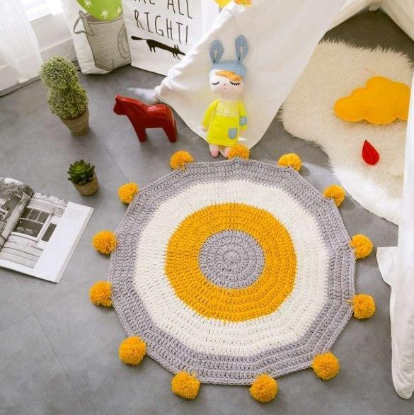 Вязаные коврики -