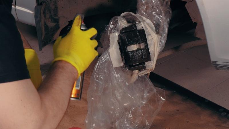 Окраска тормозных суппортов эмалью KERRY KR 962 Подробная видеоинструкция