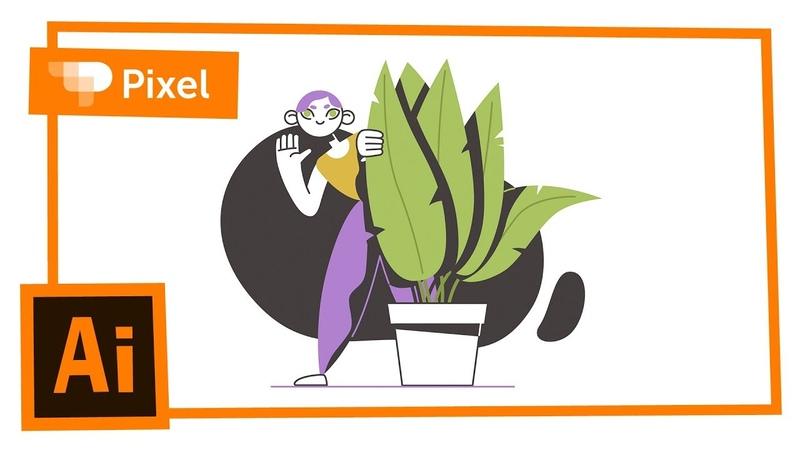 Рисуем стеснительную девушку в Adobe Illustrator уроки для новичков