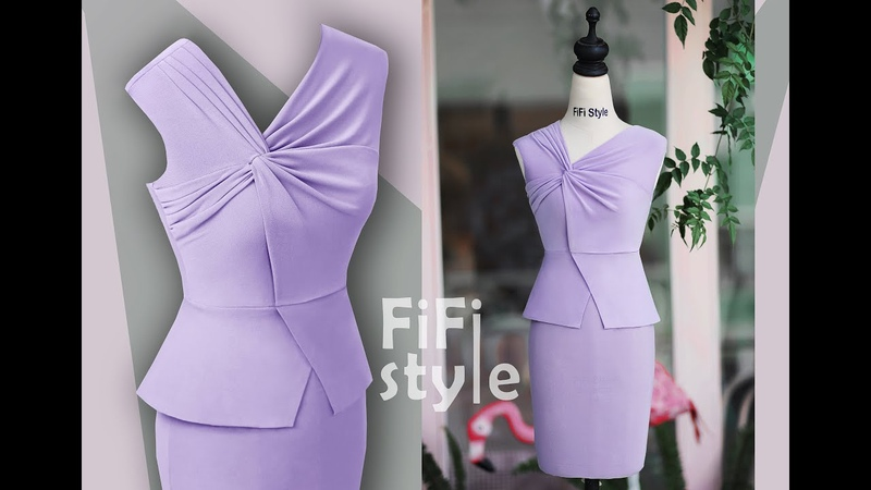 FiFi Style Thiết kế đầm xoắn hai lớp