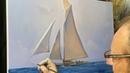 Sailing. Painting video lesson. Artist Igor Sakharov