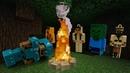 Стив Майнкрафт в видео сборнике - Оборона лагеря от мобов Майнкрафт! - Видео игры с Lego Minecraft