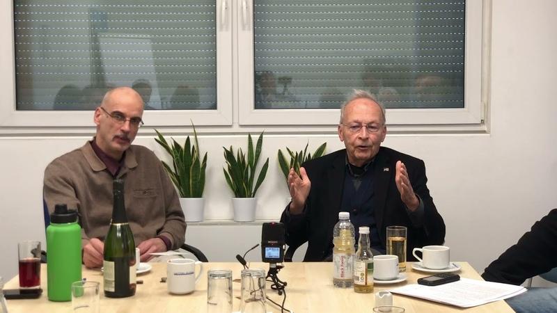 Traugott Ickeroth im Gespräch mit Prof William Toel Deutschen Unternehmern Moderation Bernd Krain