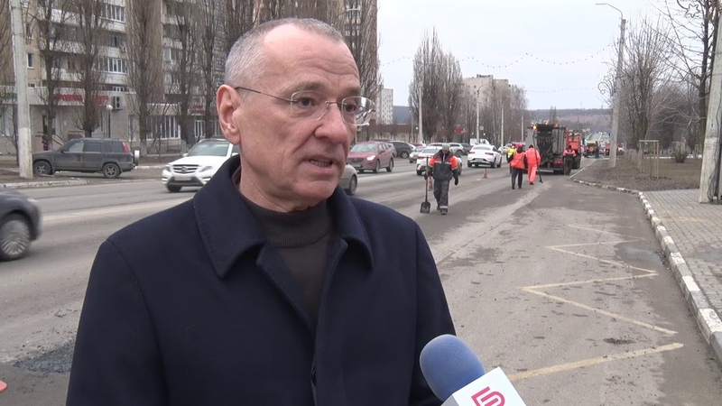 Мэр Юрий Галдун проинспектировал ход ямочного ремонта в Белгороде