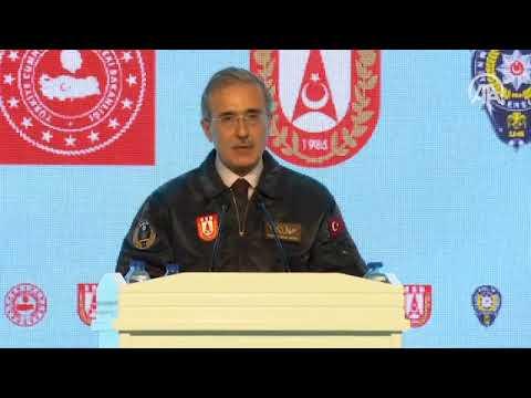 SSB Başkanı İsmail Demir, EGM'ye ilk T129 ATAK Helikopteri Teslim Törenine katıldı
