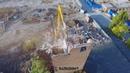 Демонтаж здания пожарной части на территории бывшего завода «Красный Аксай» г. Ростов-на-Дону