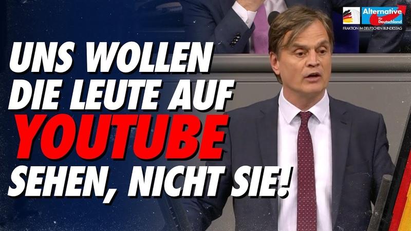Uns wollen die Leute auf Youtube sehen nicht Sie Bernd Baumann AfD Fraktion im Bundestag