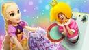 Куклы в видео онлайн - Рапунцель и Принцесса Сина! Весёлая стирка! - Новые игры одевалки для девочек