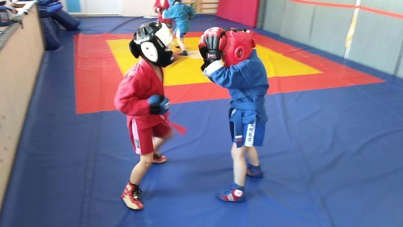 Тренировка по ударке, группа 5-7лет