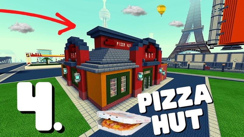Minecraft Pizza Hut Bauvorlage 004 So sieht der fertige Innenraum aus