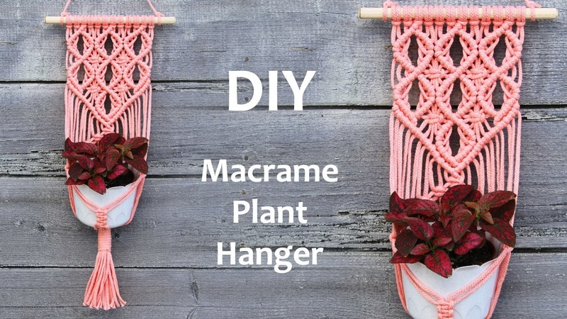 DIY Macrame Plant Hanger Tutorial | DIY Macrame Wall Hanging Tutorial | Макраме Кашпо для Цветов