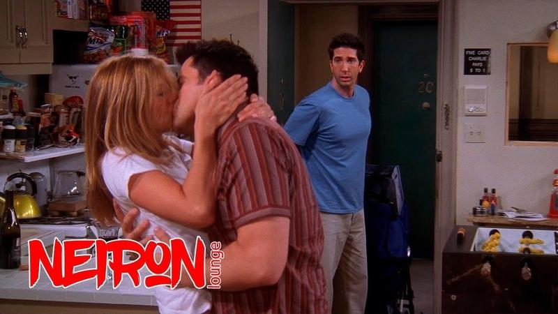 Поцелуй Рейчел и Джоуи который видит Росс Друзья S10E01
