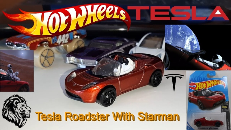 Машинка Тесла Хот Вилс - Hot Wheels Tesla Roadster With Starman HW Space 25