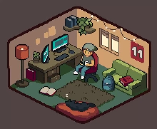 Cozy dev room ☕