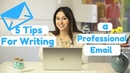 How to Write a Professional Email! The Intern Queen
