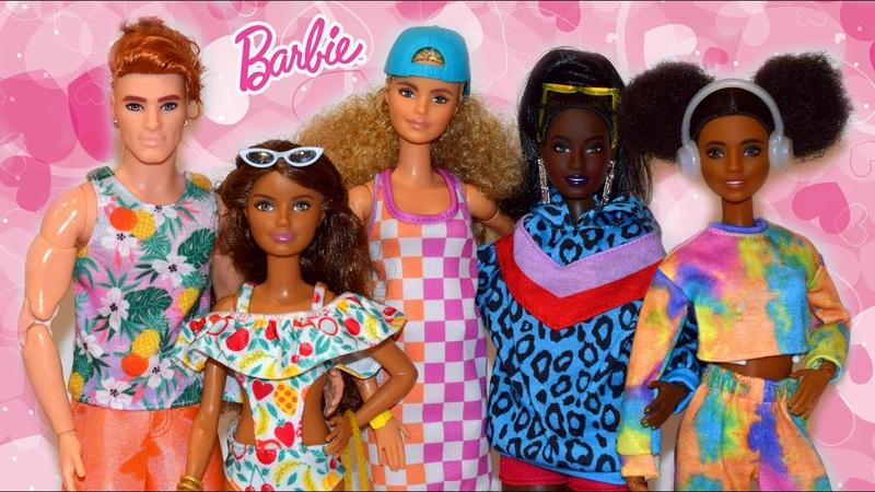 Распаковка и обзор новых фэшн-пэков для Барби от Mattel (2021)