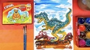 Рисуем ДИНОЗАВРА красками ГУАШЬ рисунки для детей