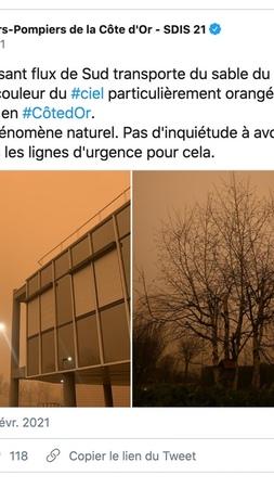 """Eric Tissier on Instagram ça n'est pas le Sahara qui a plongé une partie de la France dans un nuage ocre digne d'un film de science fiction Il s'agissait de…"""""""