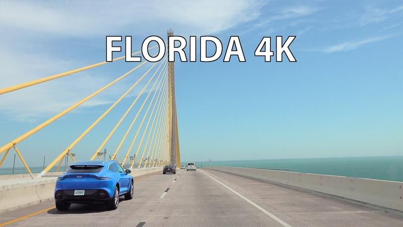 Florida 4K - Sunshine Skyway - Scenic Drive
