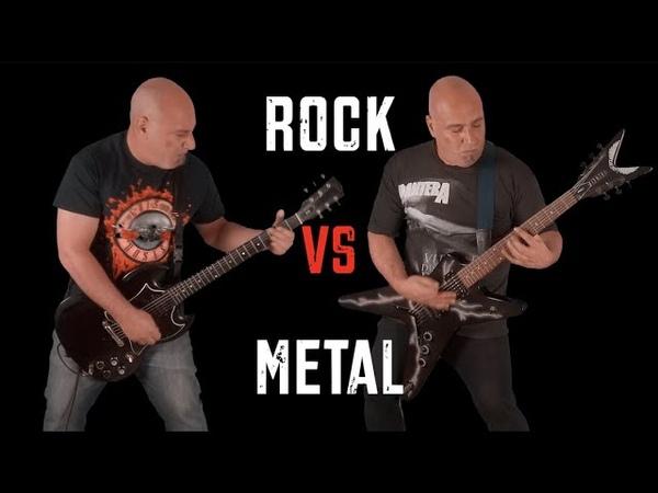 Rock VS Metal (Guitar Riffs Battle)