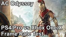 Assassins Creed Odyssey PS4 vs PS4 Pro vs Xbox One X vs Xbox One Frame Rate Comparison